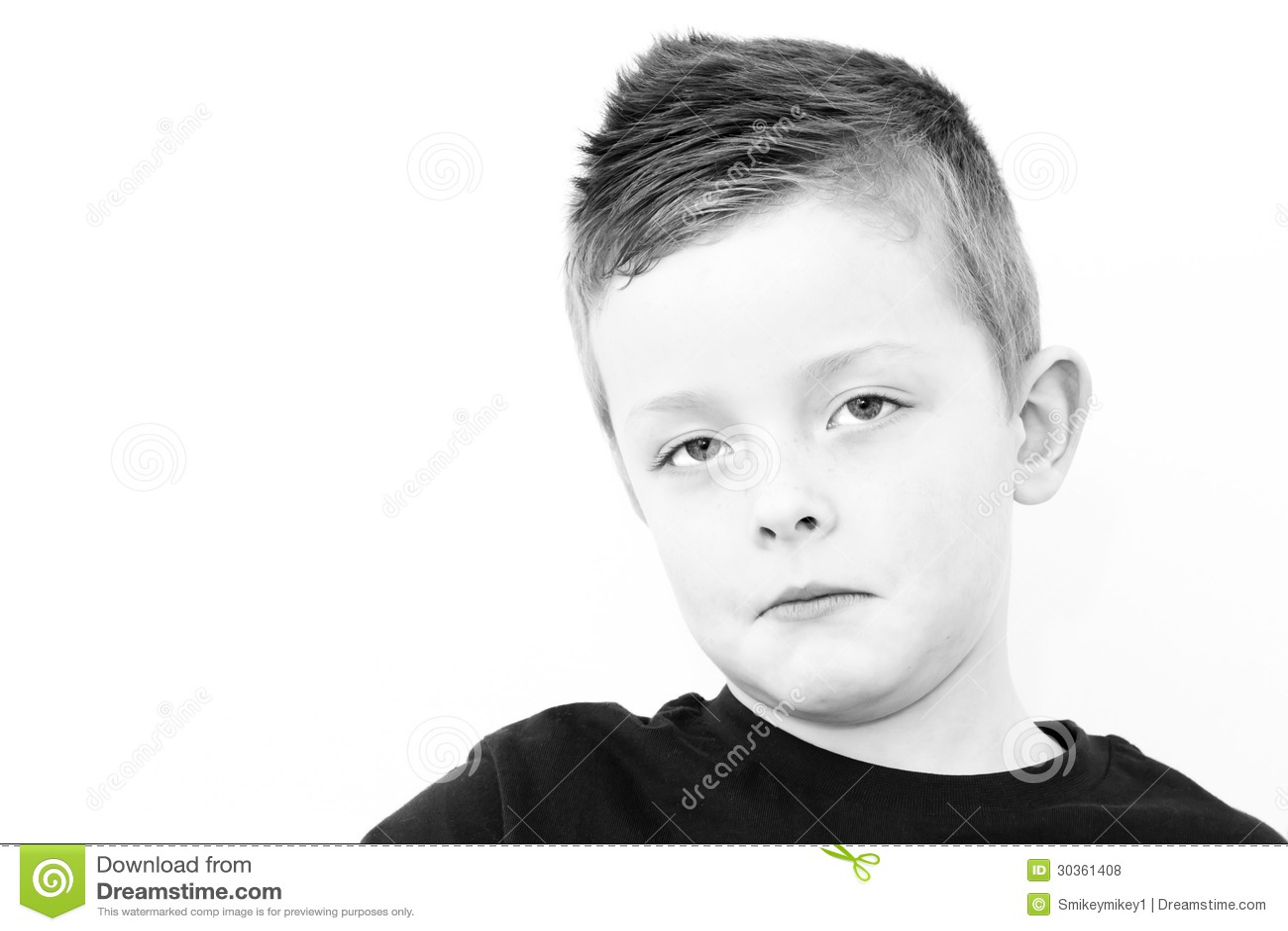 Smutna chłopiec