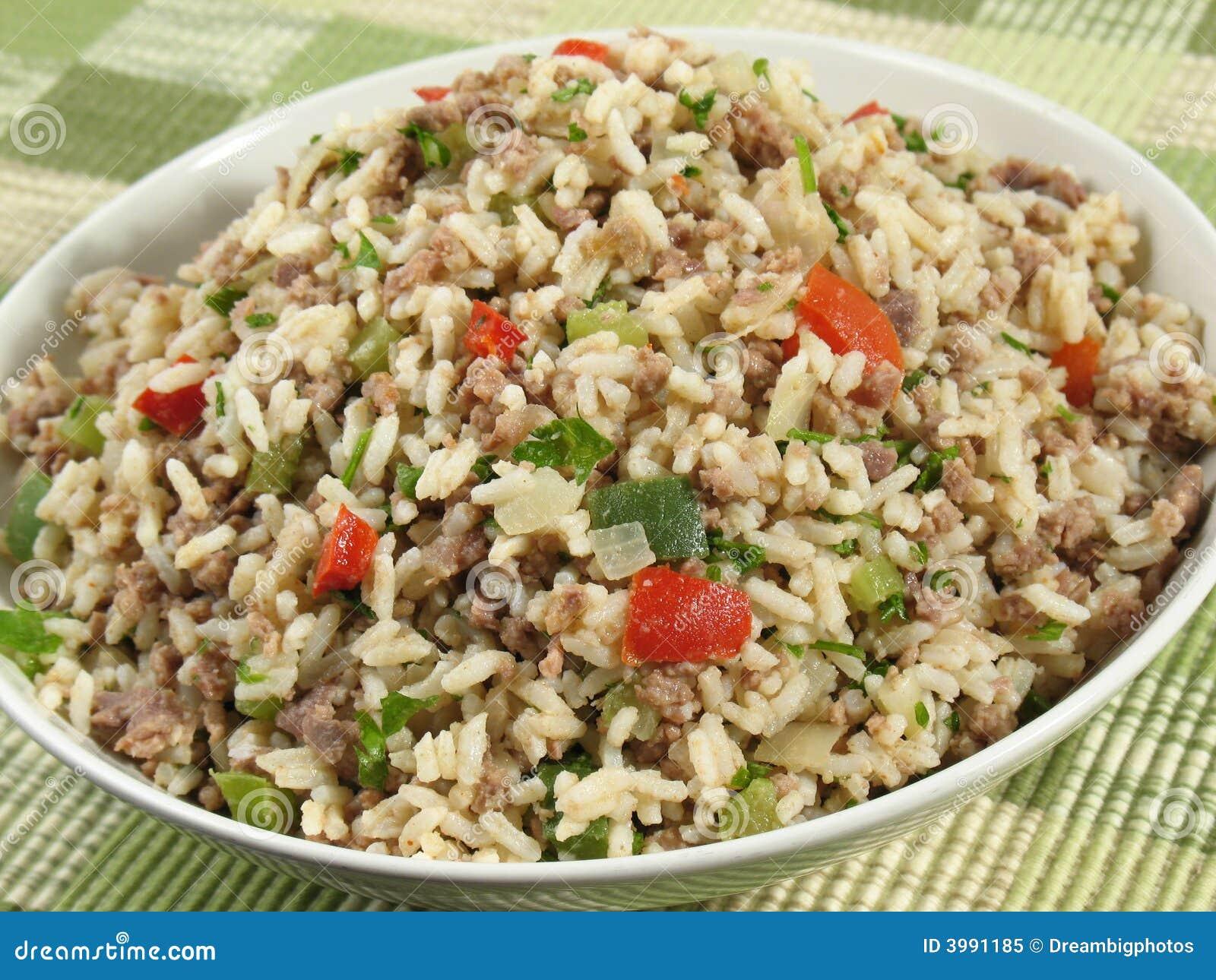 Smutsig rice för bunke