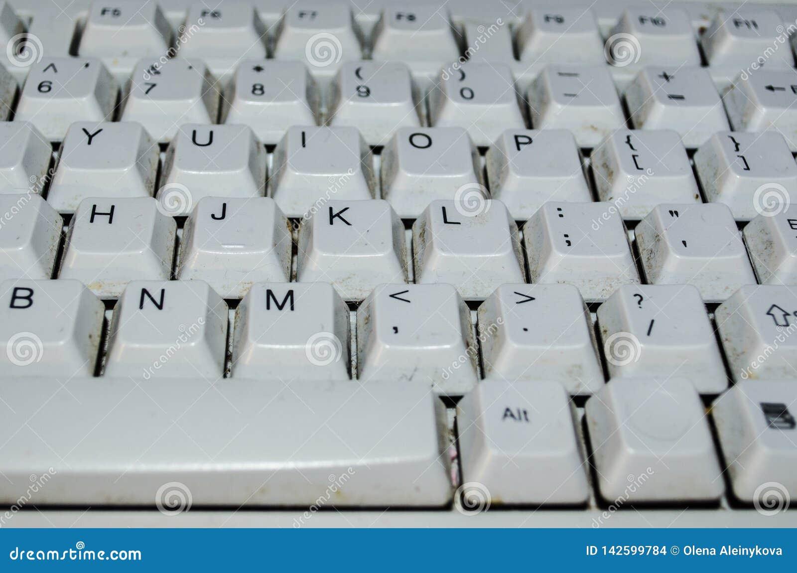 Smutsigt tangentbord