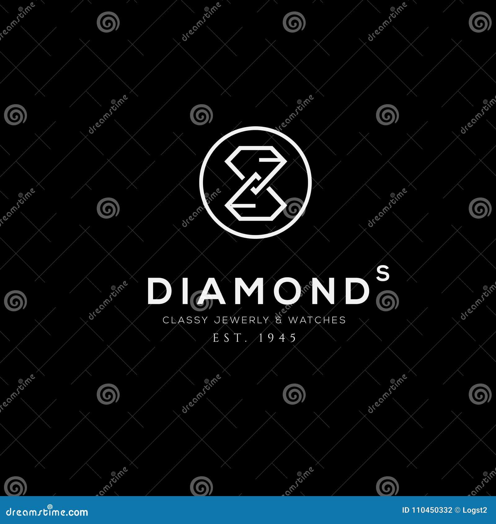 Smyckenvektorlogo Affärstecken, identitet för restaurangen, royalty,
