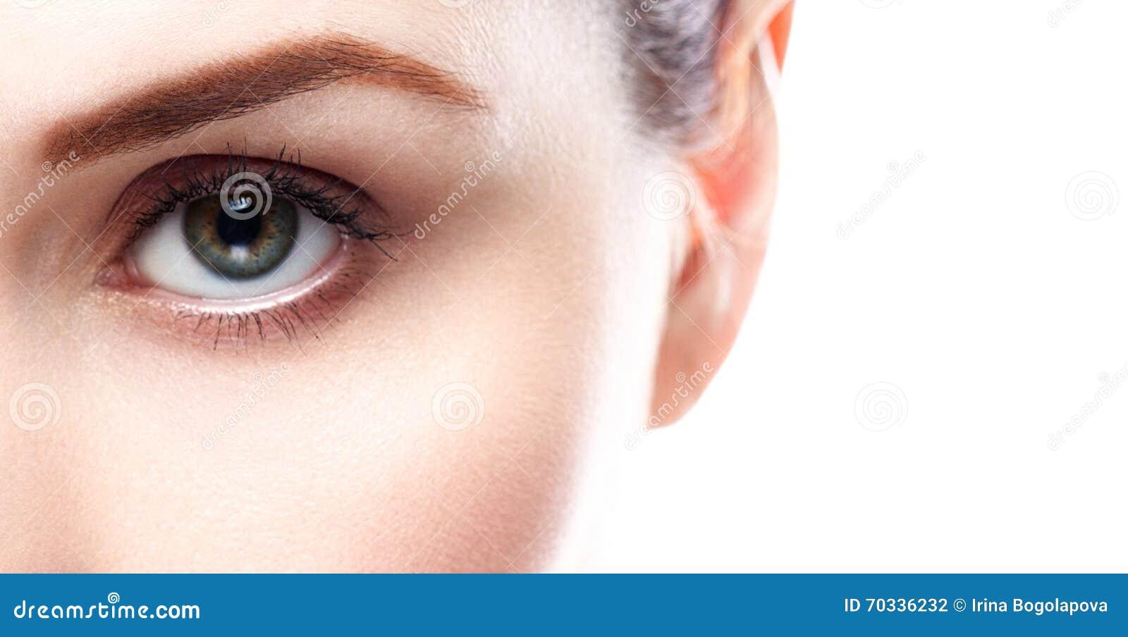 Snärtar för ögon för ögonkvinnaögonbryn