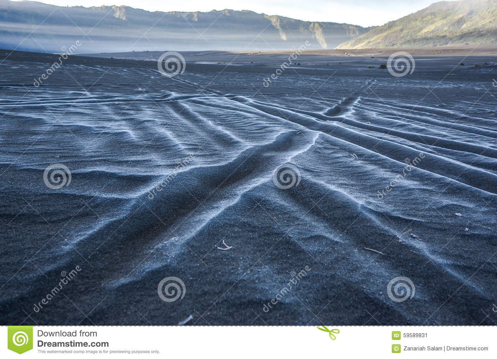 Snö på havet av sand