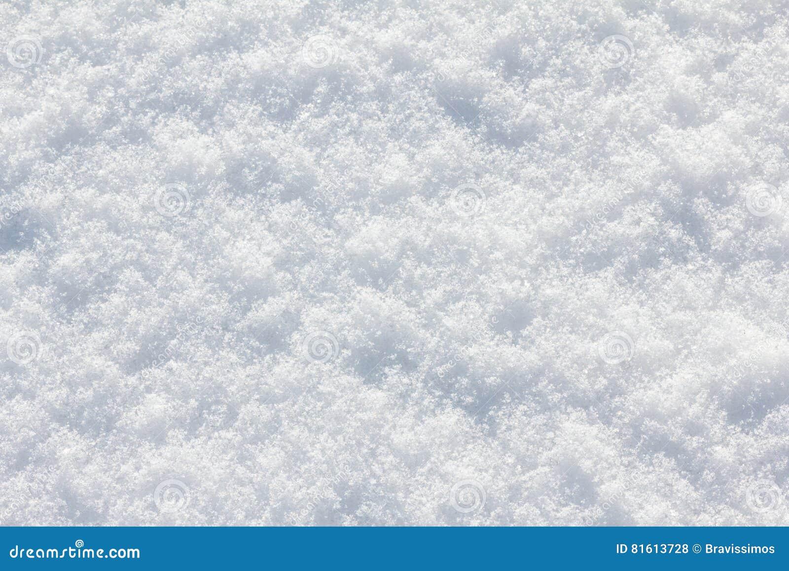 Snöbakgrundsvit i vinterdag Säsong av kallt väder, texturabstrakt begrepp