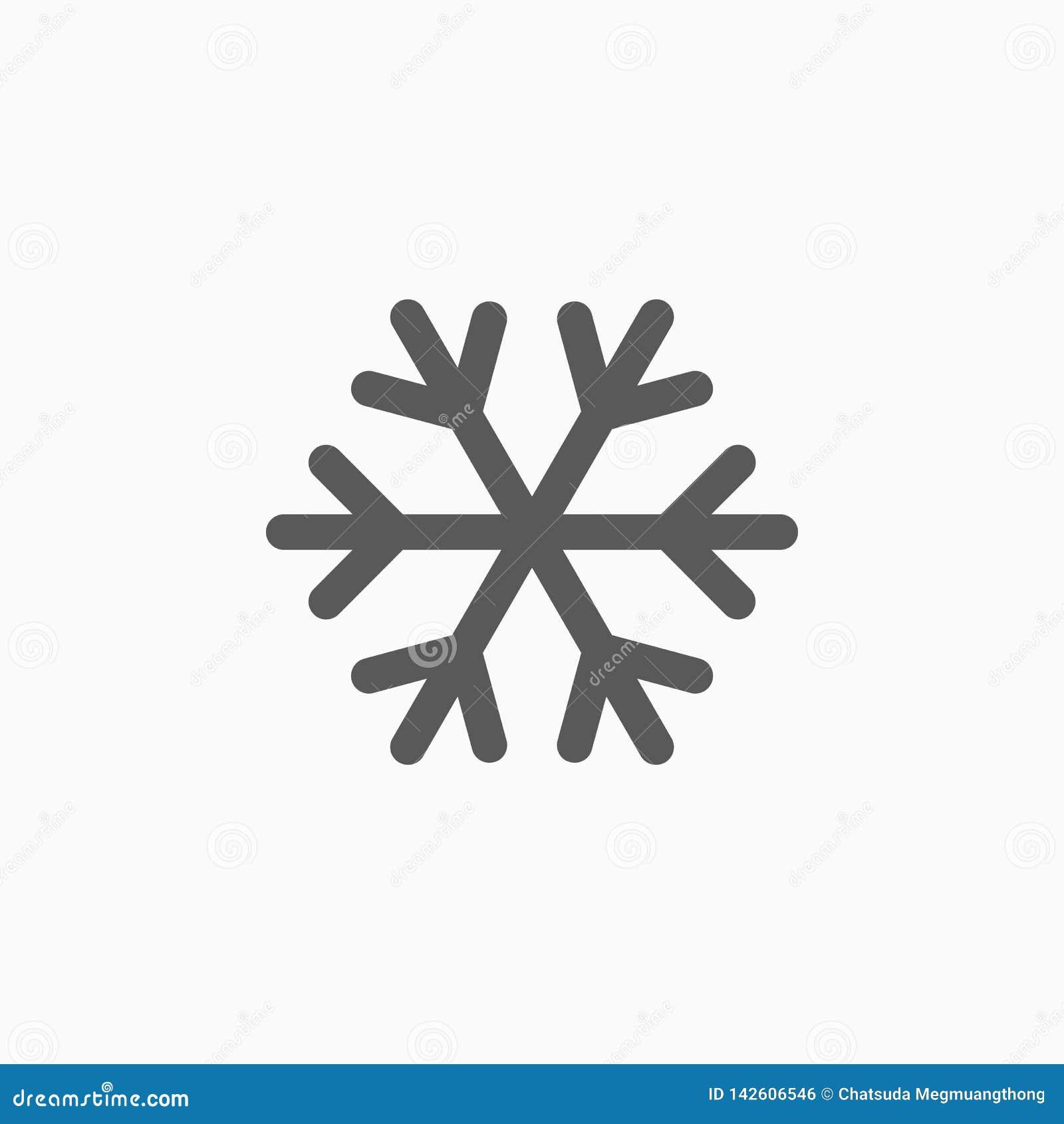 Snöflingasymbol, snö, väder, förkylning som är kall