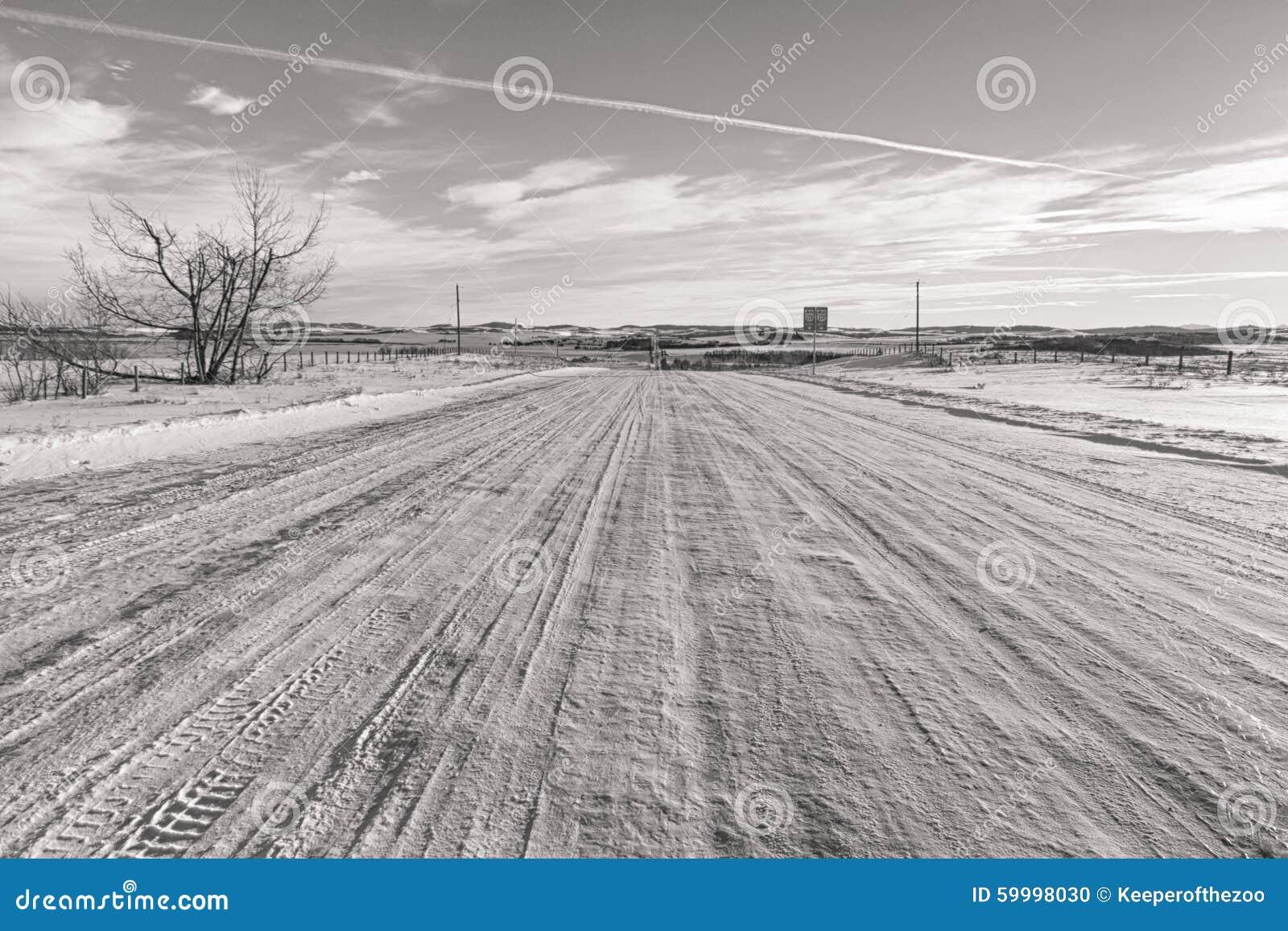 Snöig tillbaka vägar