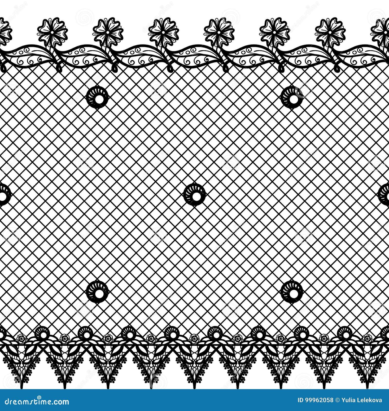 Snör åt sömlös textur för vektorn med design och gränser