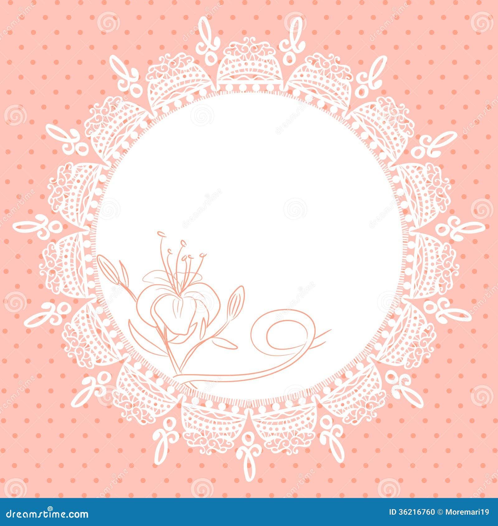 Snöra åt ramen med liljan skissar