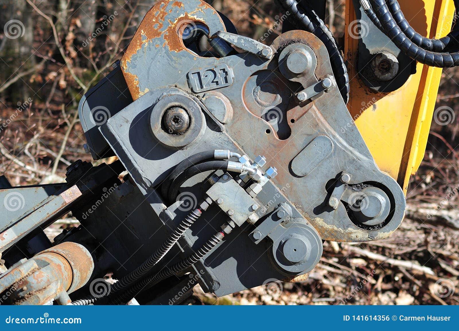 Snabb koppling av en hydraulisk grävskopa