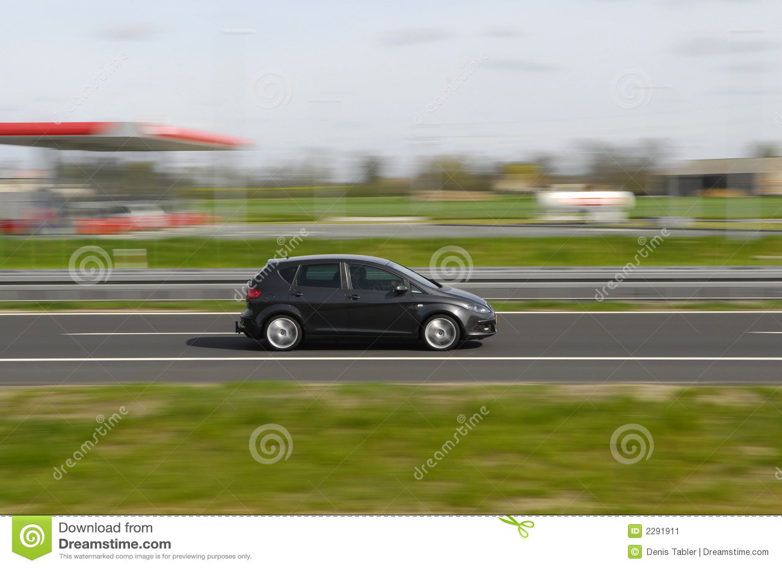 Snabb moving sport för bil