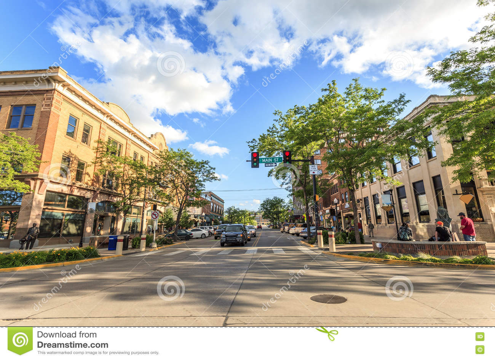 Snabb stad i South Dakota, USA