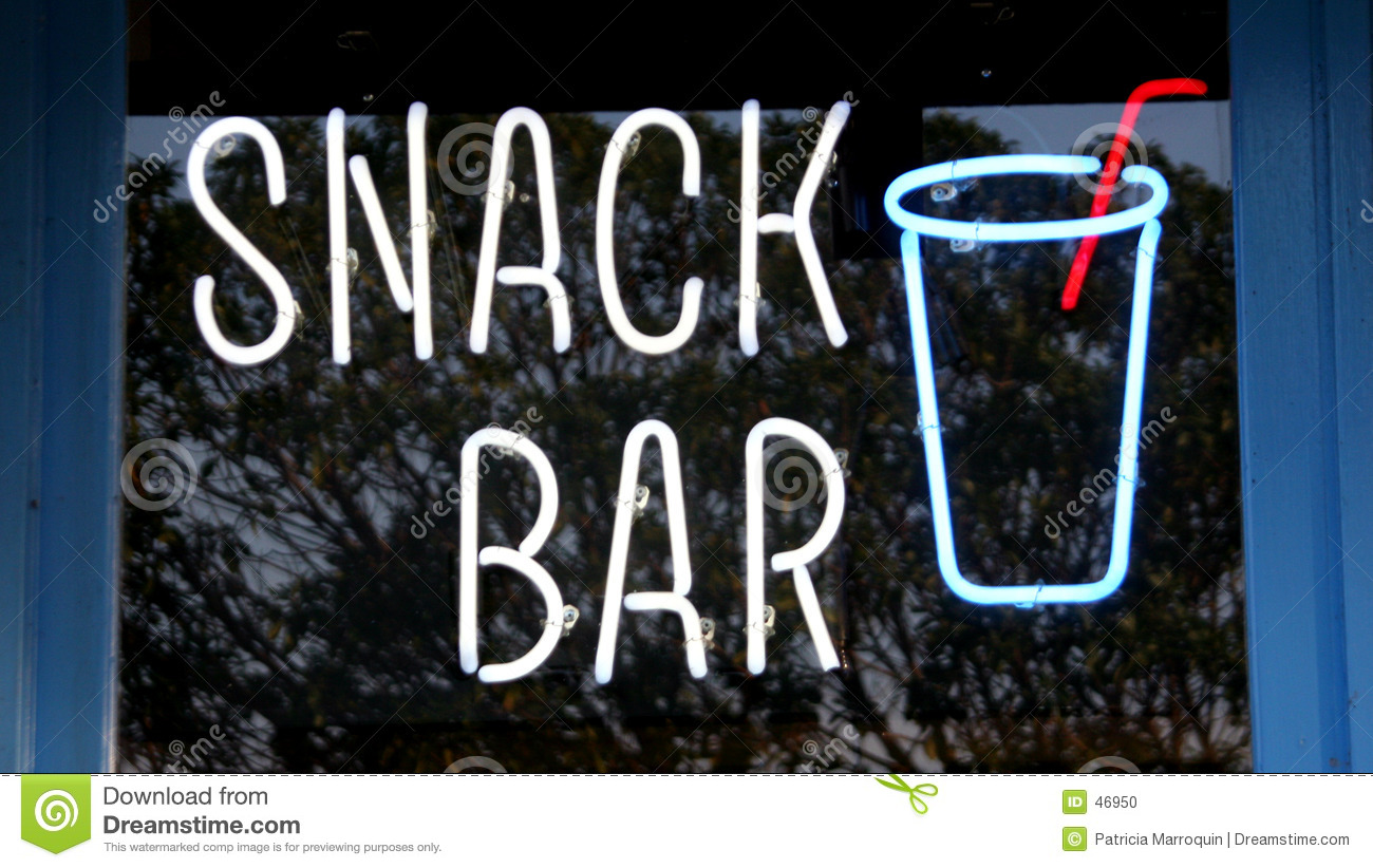Snack bar stock photo image of harbor sign snack neon - Image of bar ...