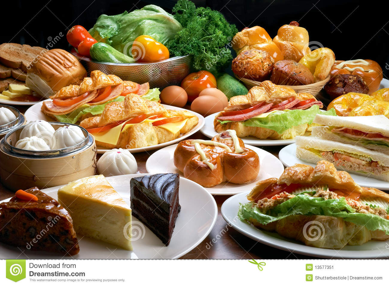 Snack Food Stock Image Image Of Bread Buffet Menu