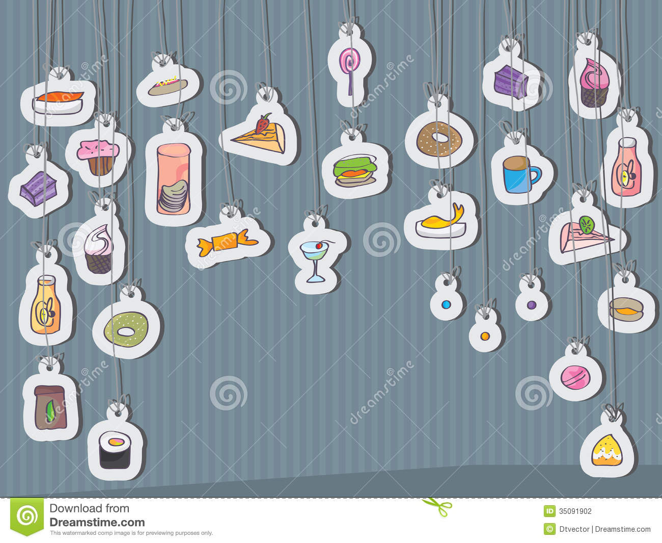 Snack Food Card Hang_eps