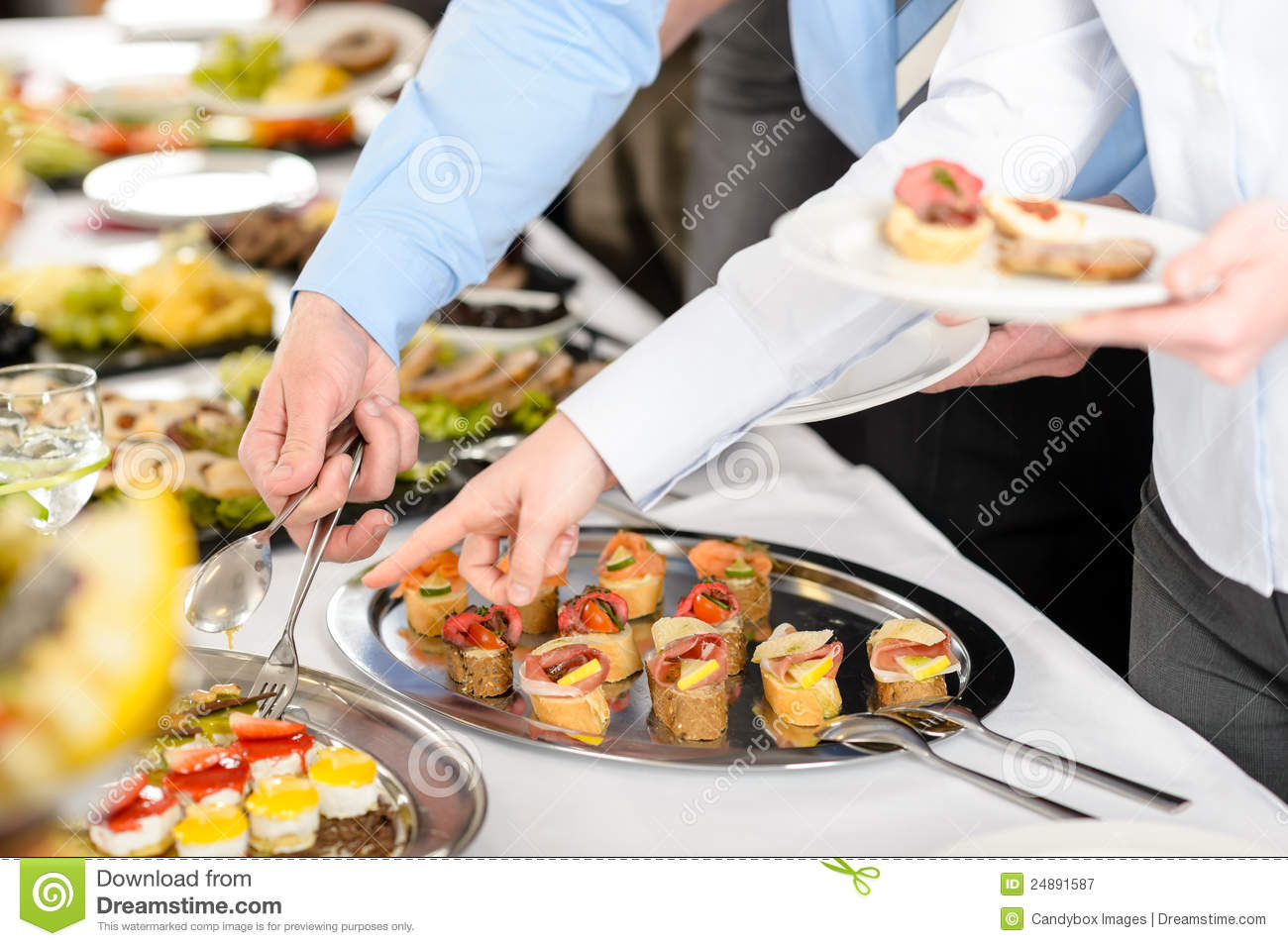 ... Free Stock Photography: Snacks buffet at business company meeting