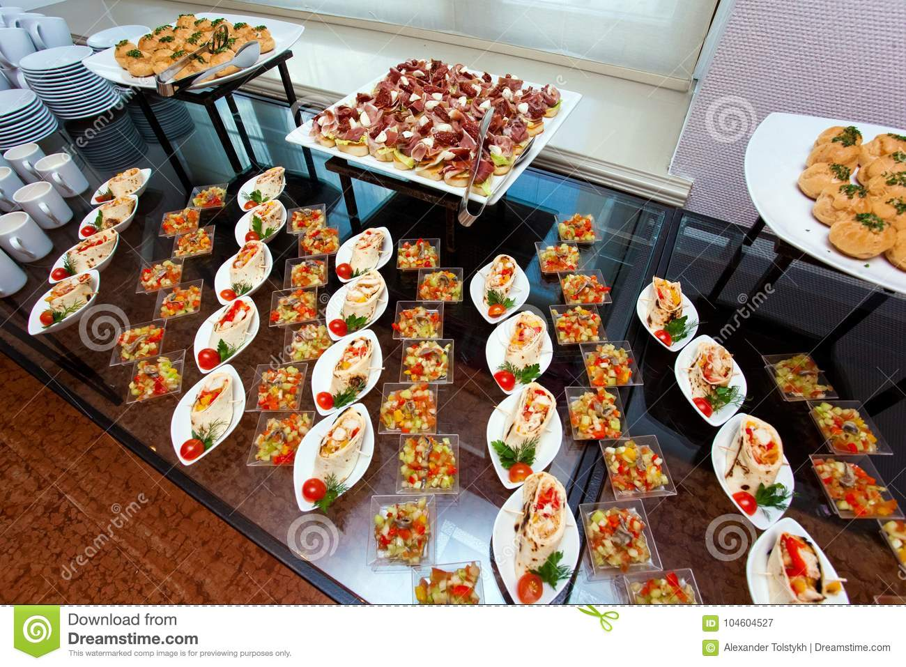 https www dreamstime com snacks sandwiches breakfast english hotel restaurant table snack bar close up view image104604527