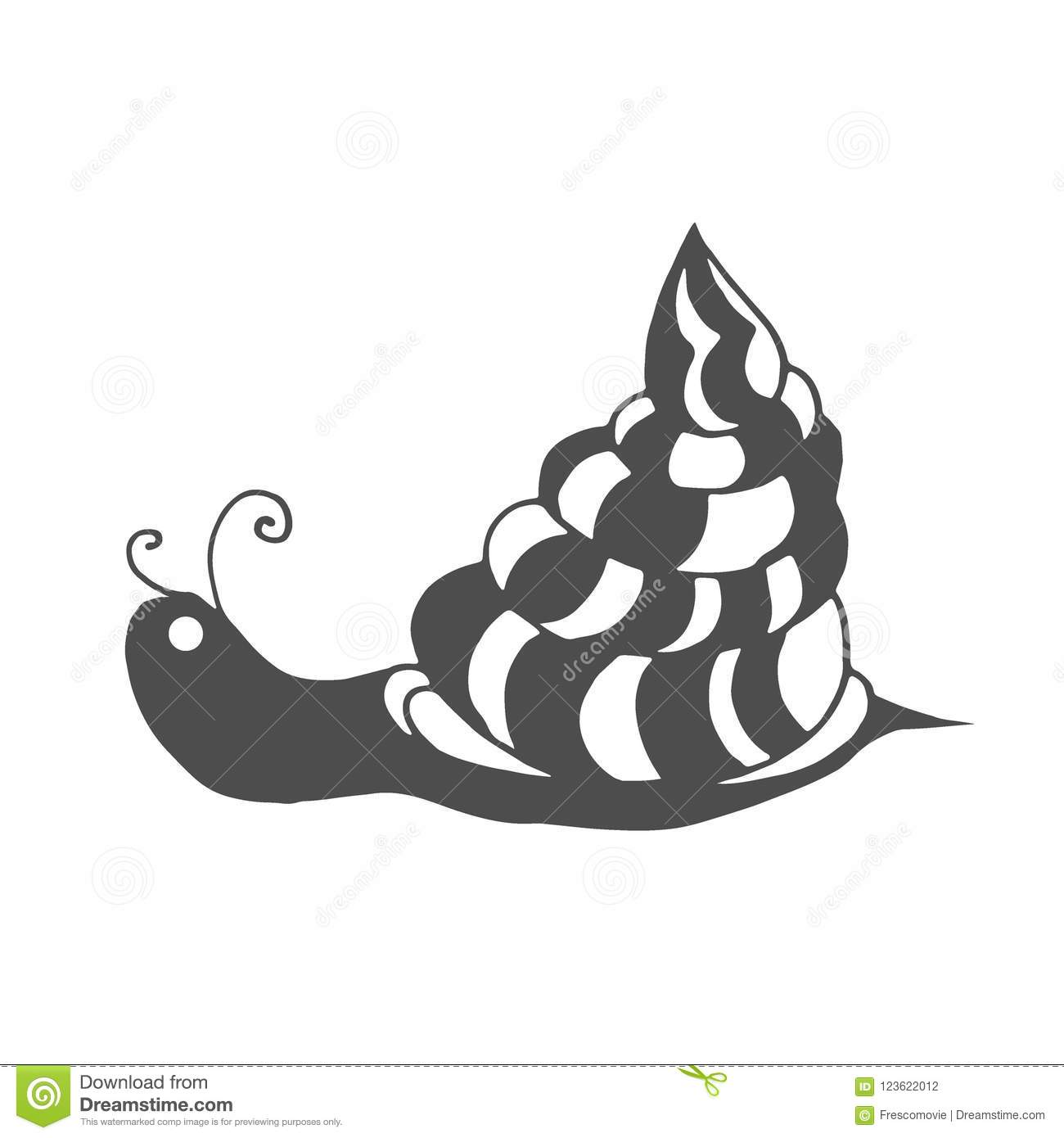 Snail Coloring Page Stock Vector Illustration Of Drawing 123622012