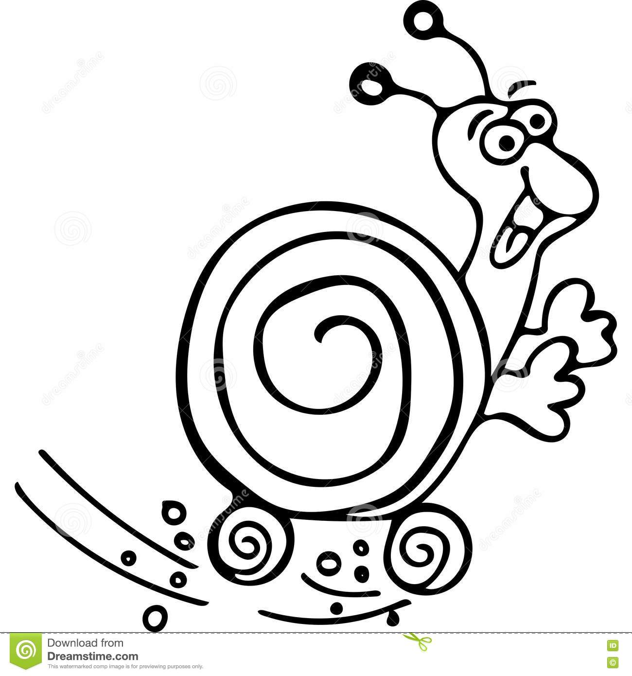 Snail kids coloring pages stock illustration. Illustration of smile ...