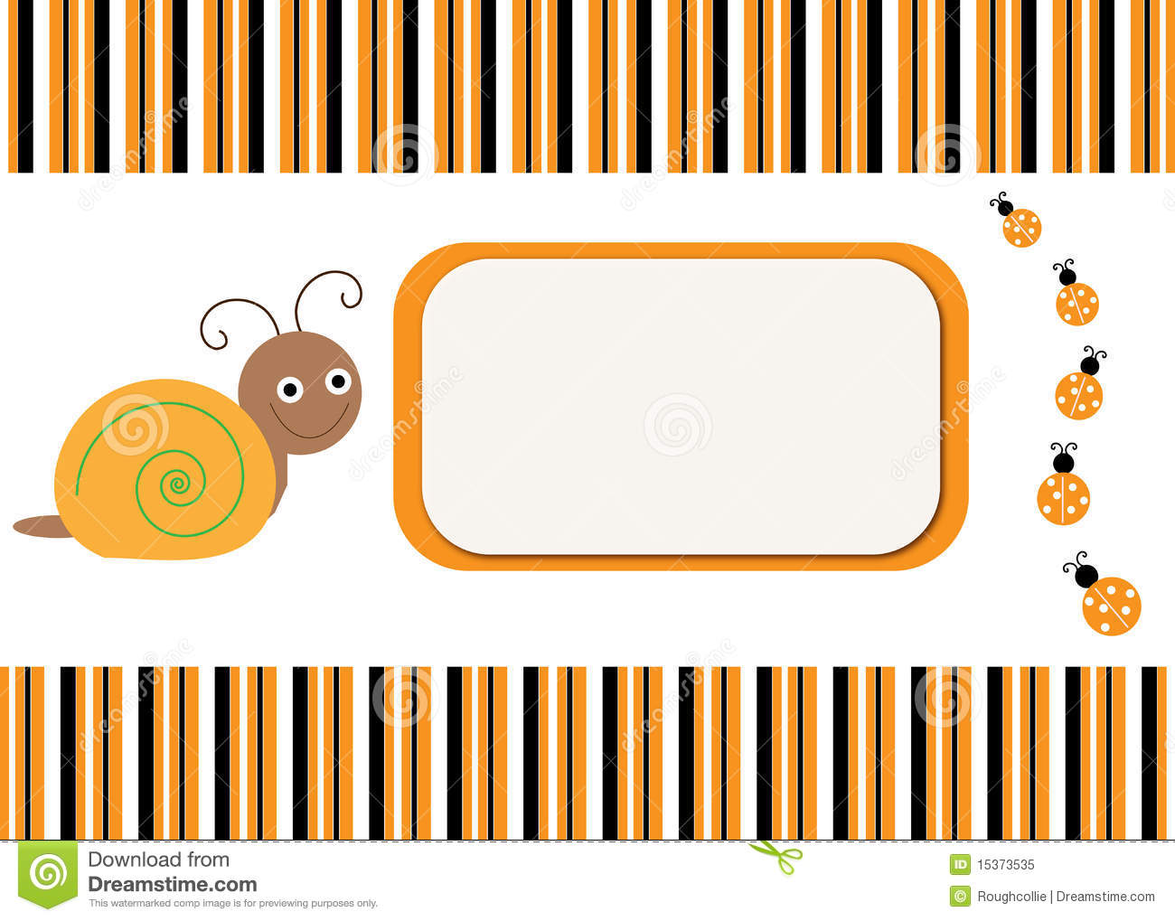 Snail u0026 Ladybug Card Background Royalty Free Stock Photo - Image ...