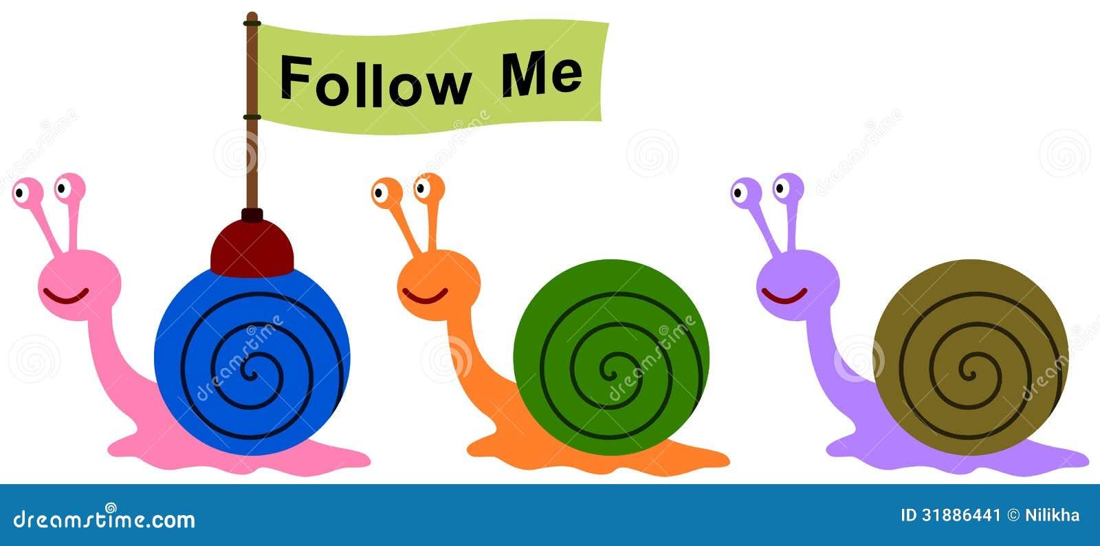 Snail Leader Stock Image - Image: 31886441