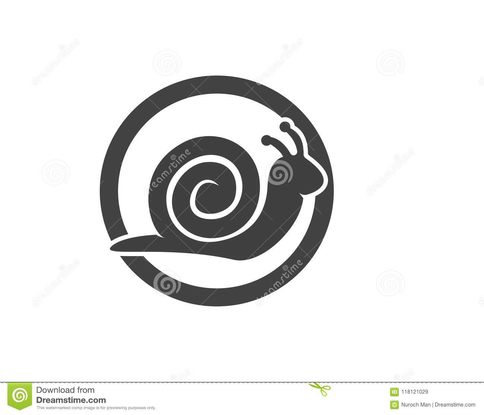 snail in logo template stock vector illustration of design 118121029