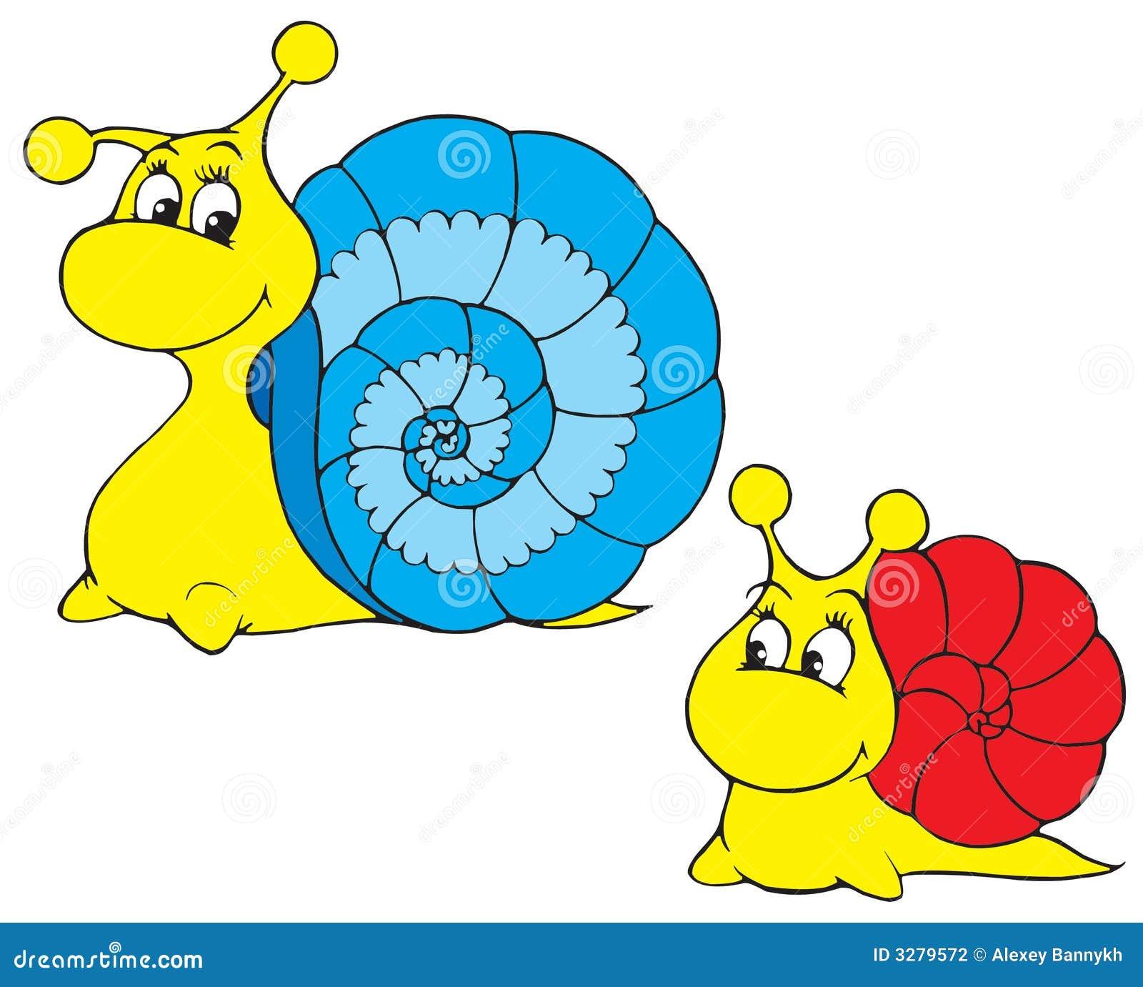Snail Vector Clip Art Stock Vector Image Of Childish