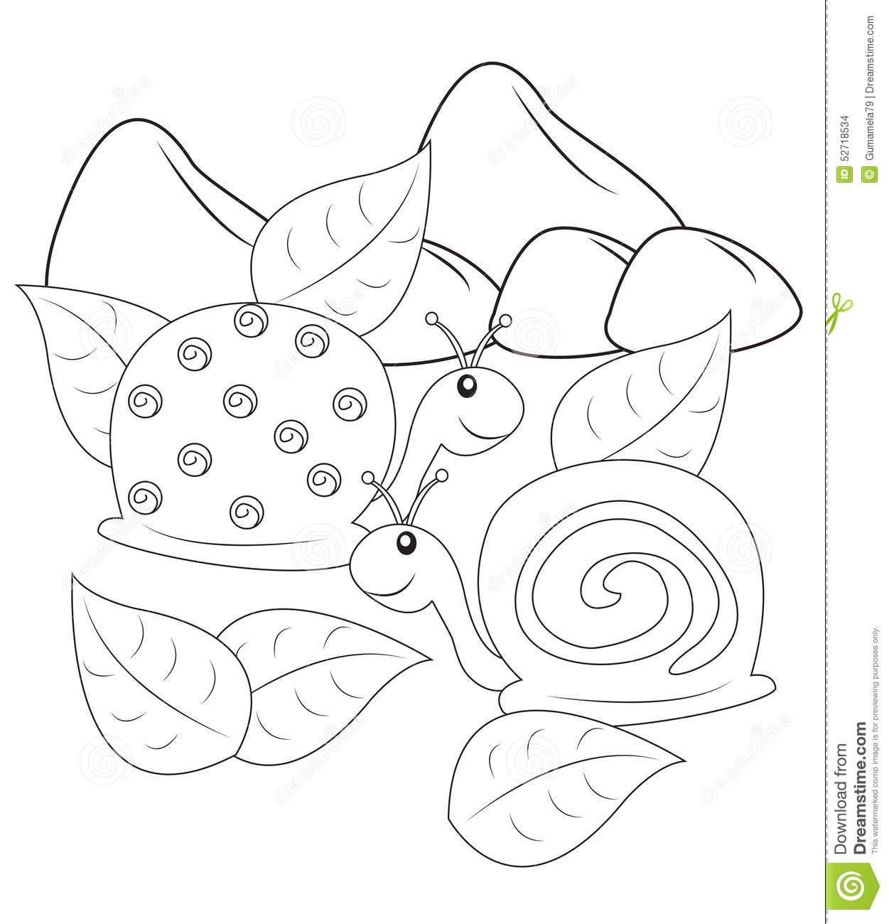 Cartoon funny snail coloring book stock vector 232624141 - Stock Illustration Snails Coloring Page Useful As Book Kids Wallpaper Gallery Pics Photos Coloring Book