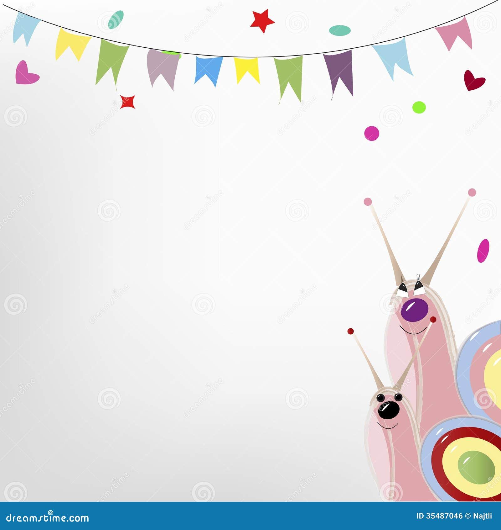 snails stock vector image of invertebrate birthday