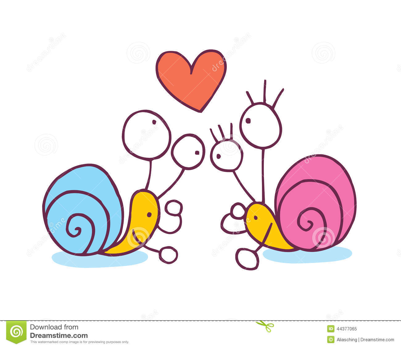 Cartoon Characters Love : Snails in love cartoon illustration stock vector image