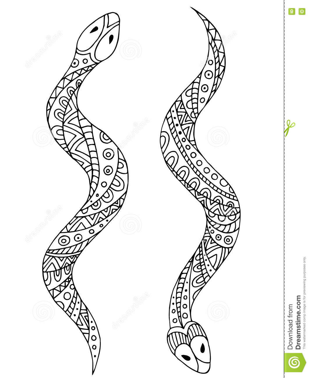 how to make a snake on illustrator