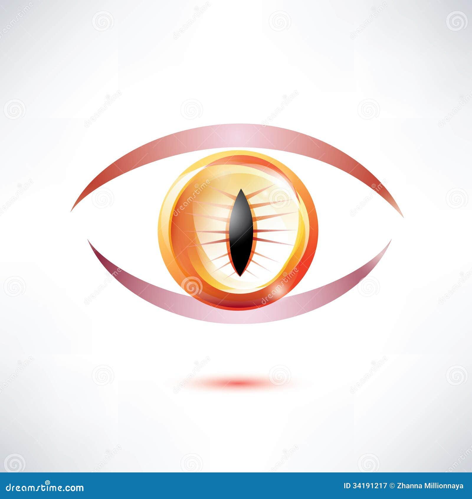 Snake Beast Eye Stock Vector Illustration Of Fire Eyeball 34191217