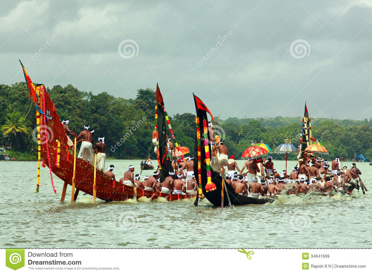 Snake Boat Races Of Kerala Editorial Stock Image - Image ...