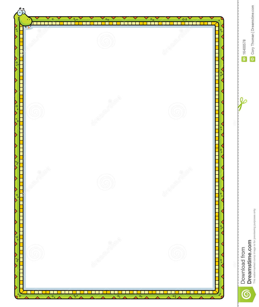 Snake Border Stock Vector Illustration Of Long Design