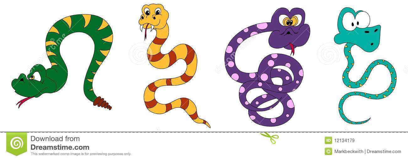 Snake Cartoons Royalty Free Stock Images - Image: 12134179