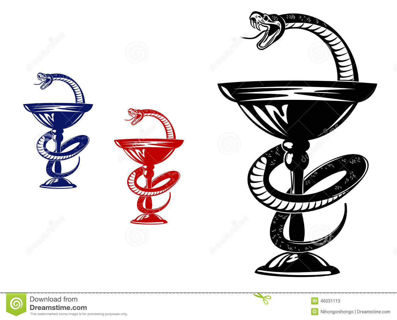 Snake On Cup Stock Vector Illustration Of Clinic Drug 46031113