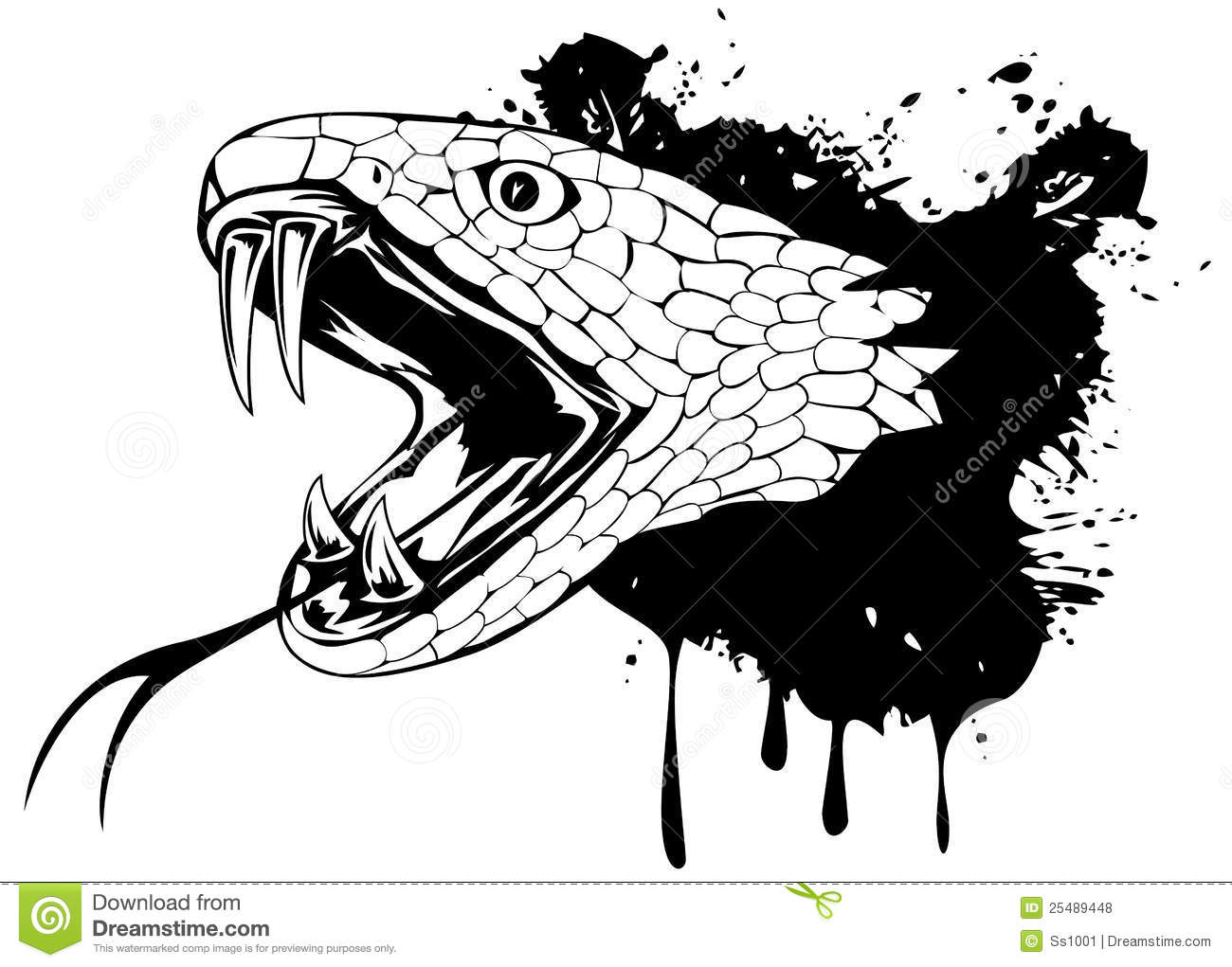 Snake head stock vector image of cruel fierce abstract - Tete de serpent dessin ...