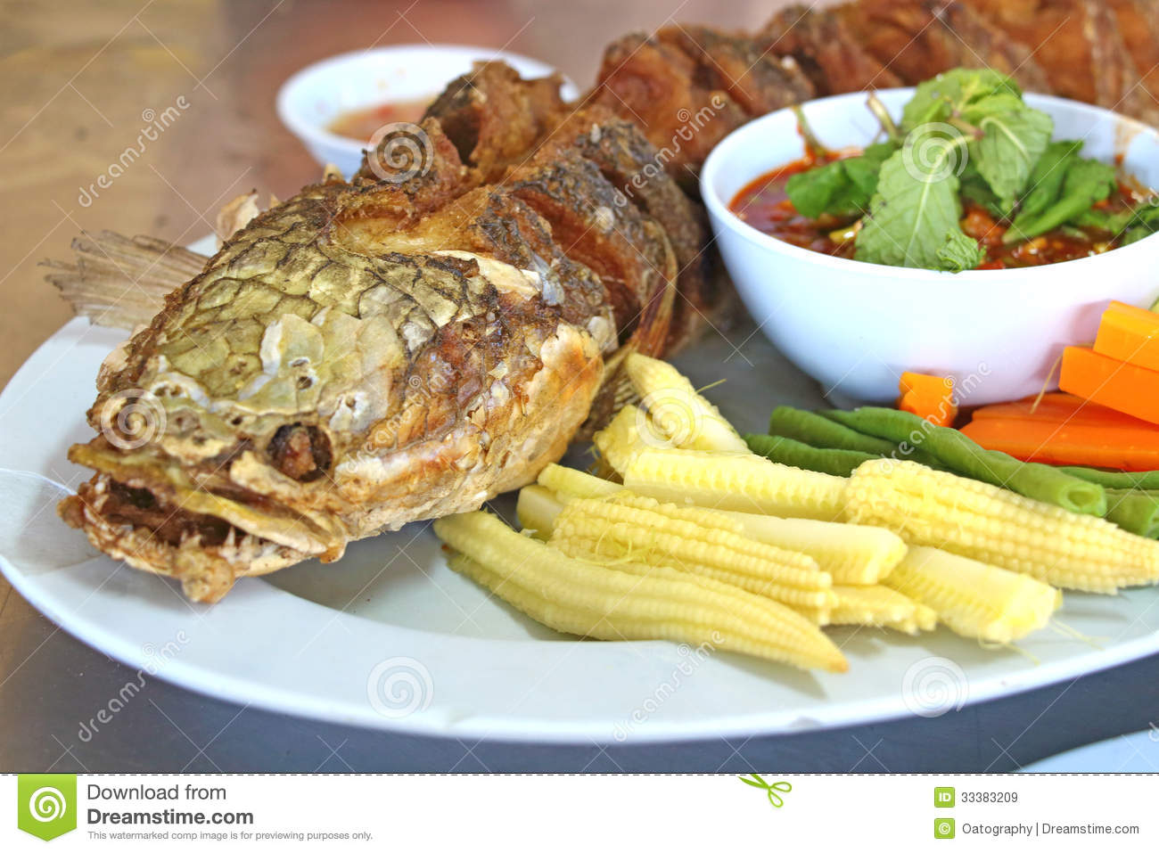 snake head fish fried stock image image of dinner crisp