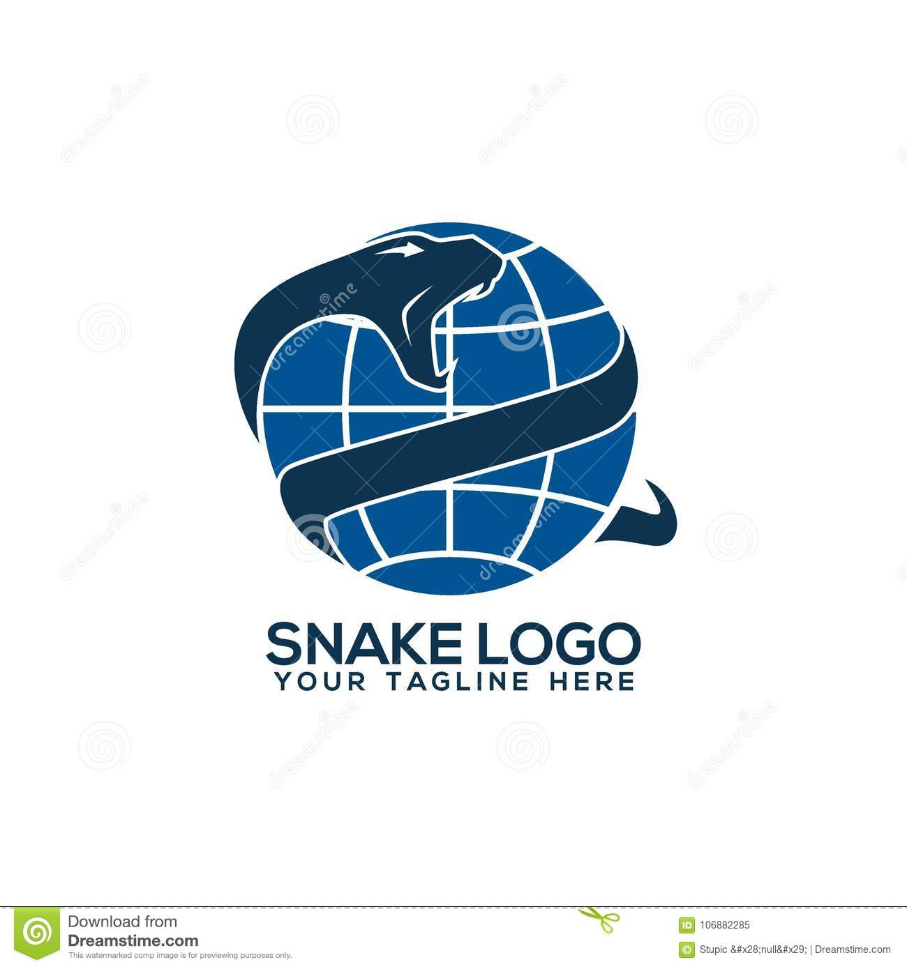 snake logo vector art logo template and illustration stock