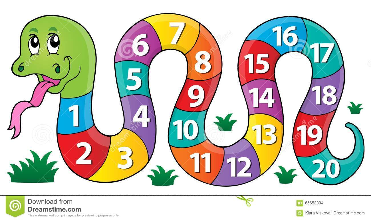 snake with numbers theme image 1 stock vector image clipart snake heads clip art snakes