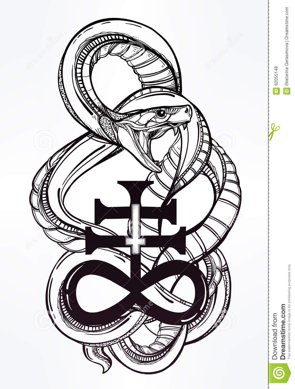 Royalty Free Vector Download Snake With Satanic
