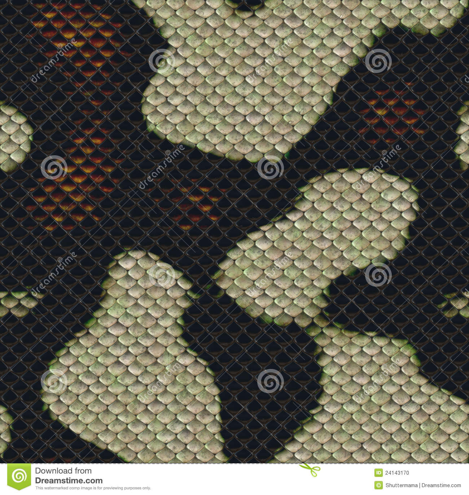 Snake Scale Seamless Pattern Alien Armor Design Stock Photo