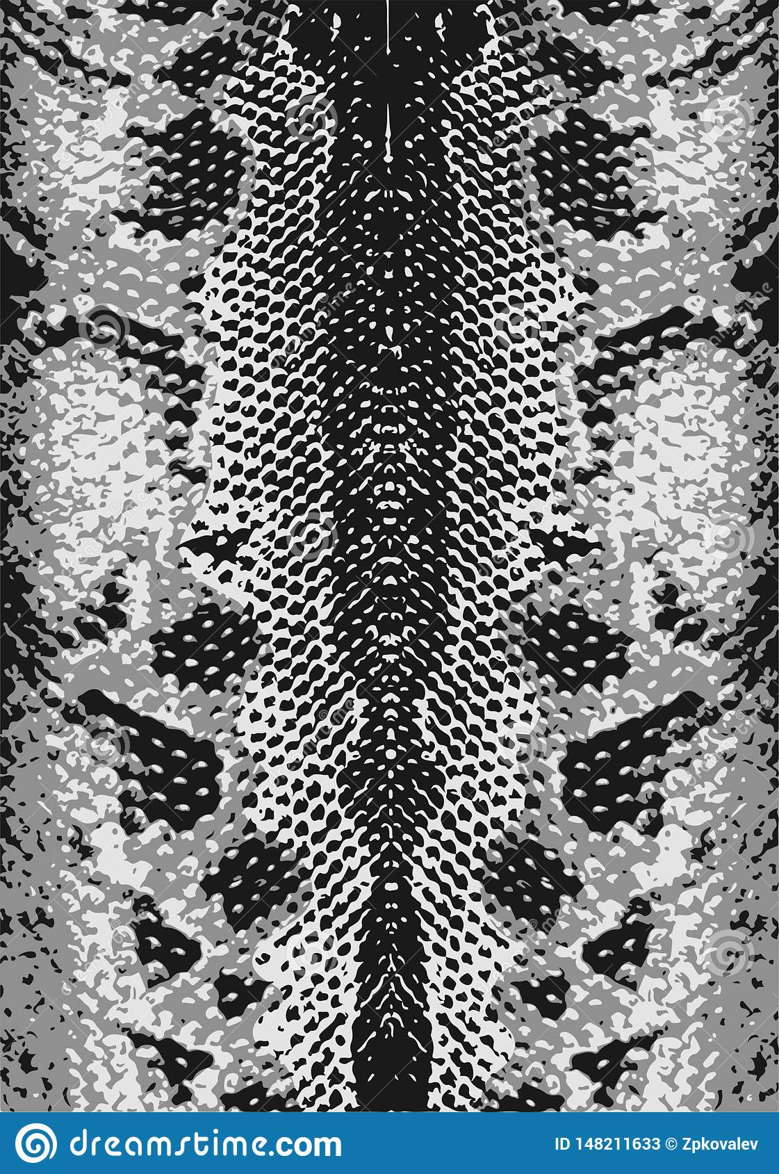 Snake Skin, Texture. Abstract Grunge Background. Easy To Change Colors. Vector Illustration. On ...