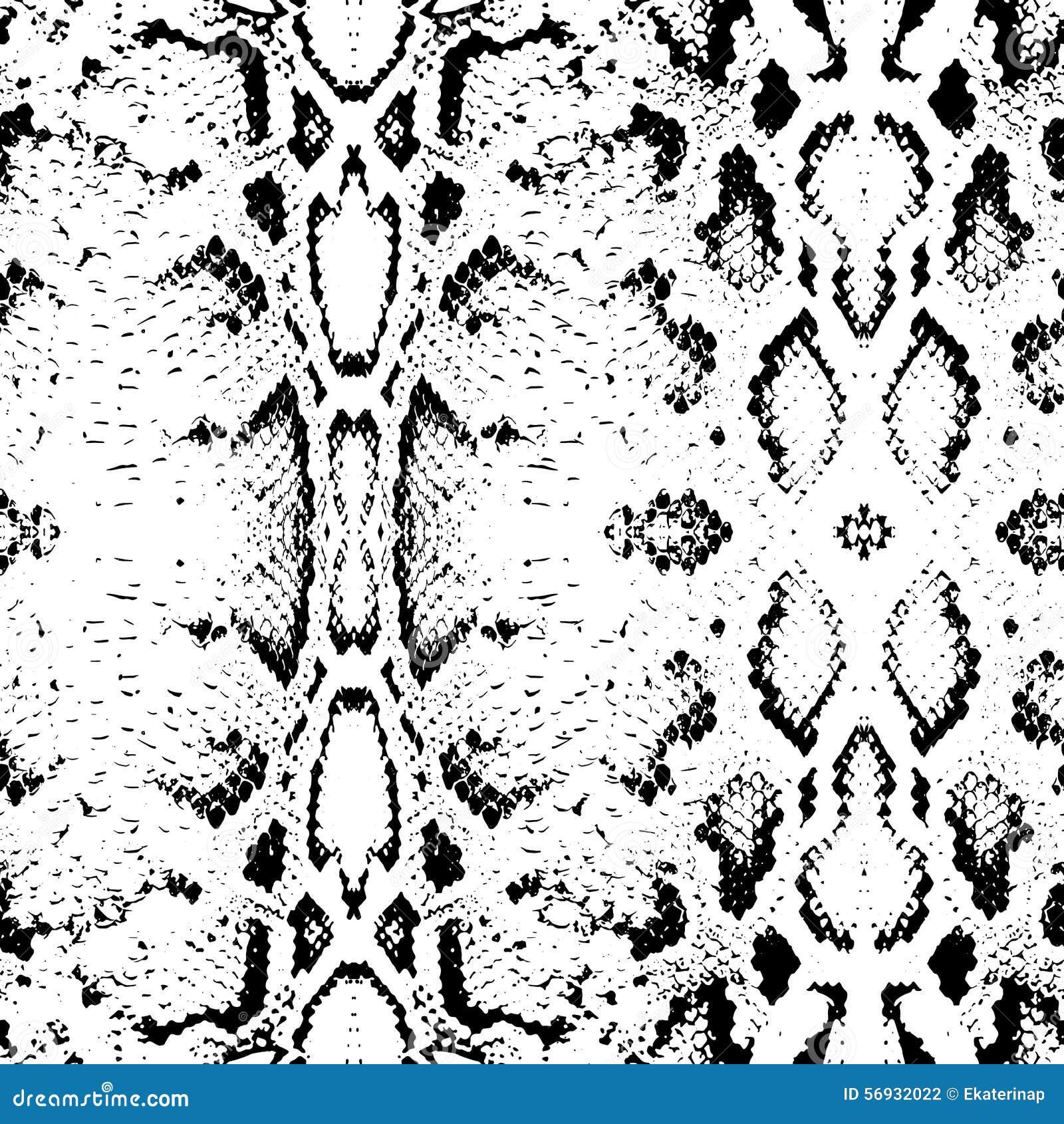 snake skin texture seamless pattern black on white background vector stock vector. Black Bedroom Furniture Sets. Home Design Ideas