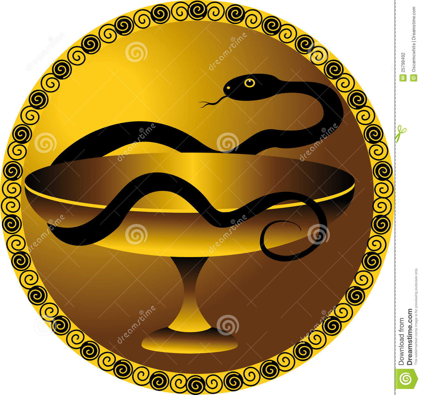 Snake A Symbol Of The Medical Stock Vector Illustration Of Life