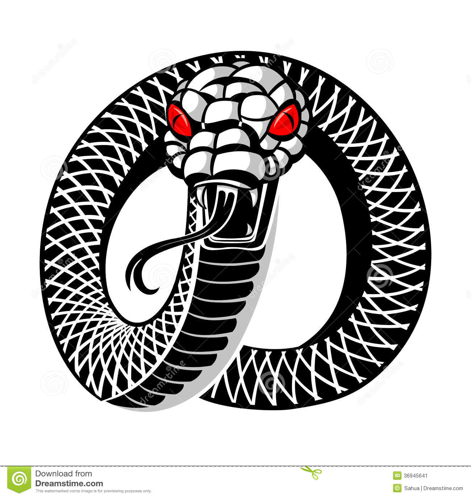 Тату две змеи эскизы