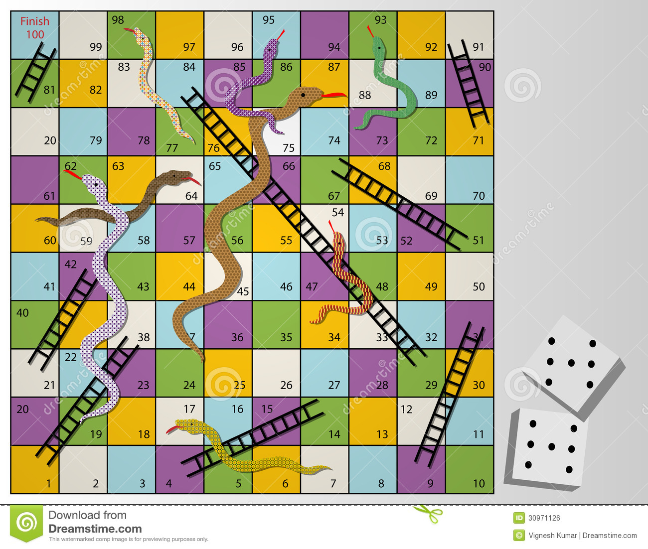 Snakes And Ladder Board Royalty Free Stock Photos - Image: 4794088