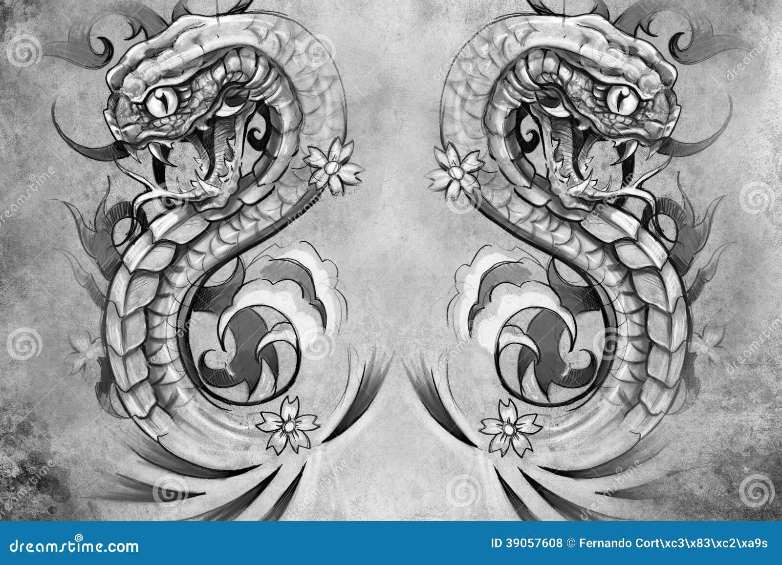 snakes tattoo design over grey background stock illustration illustration of halloween. Black Bedroom Furniture Sets. Home Design Ideas
