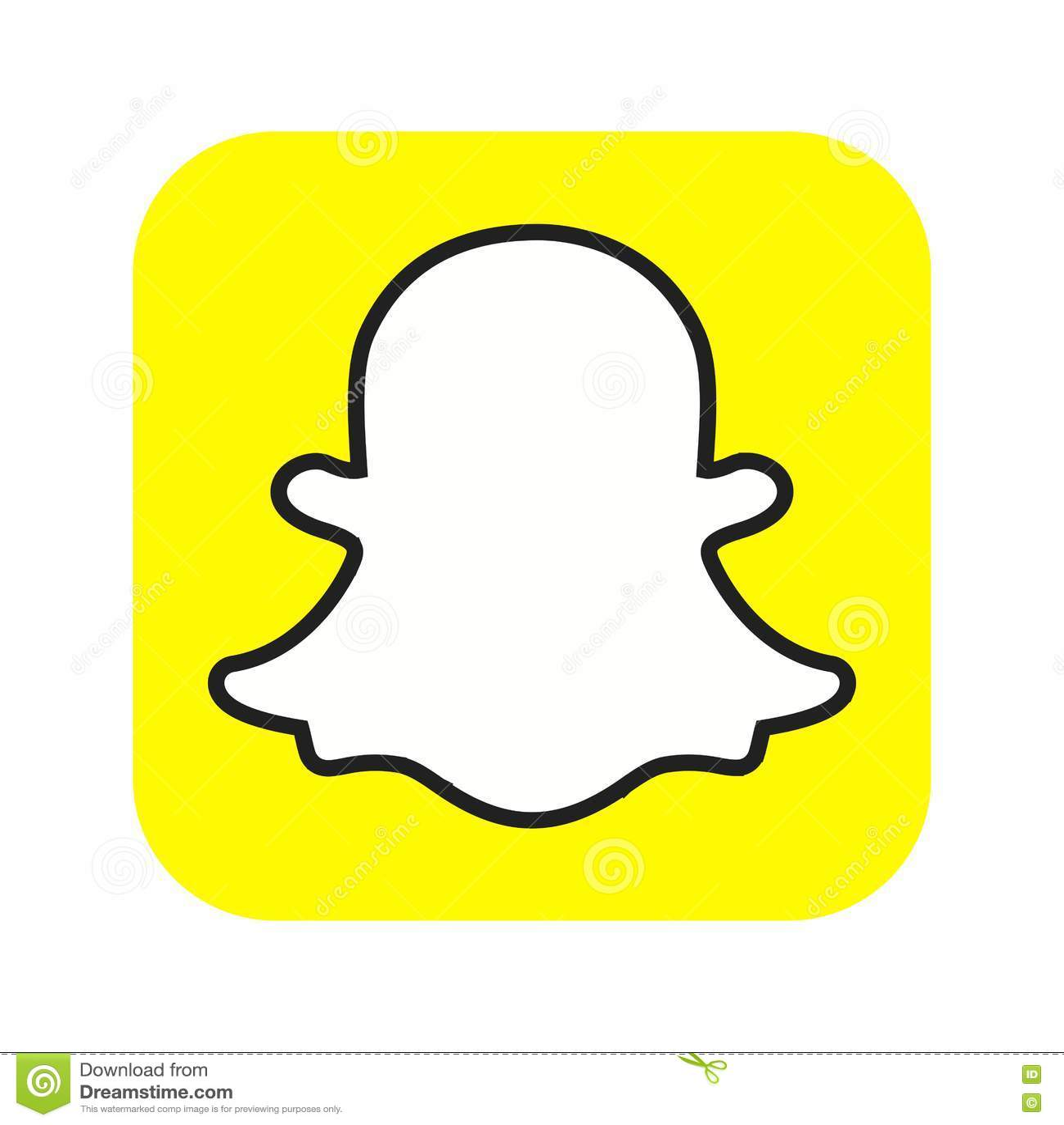 Snapchat editorial stock photo. Illustration of media ...