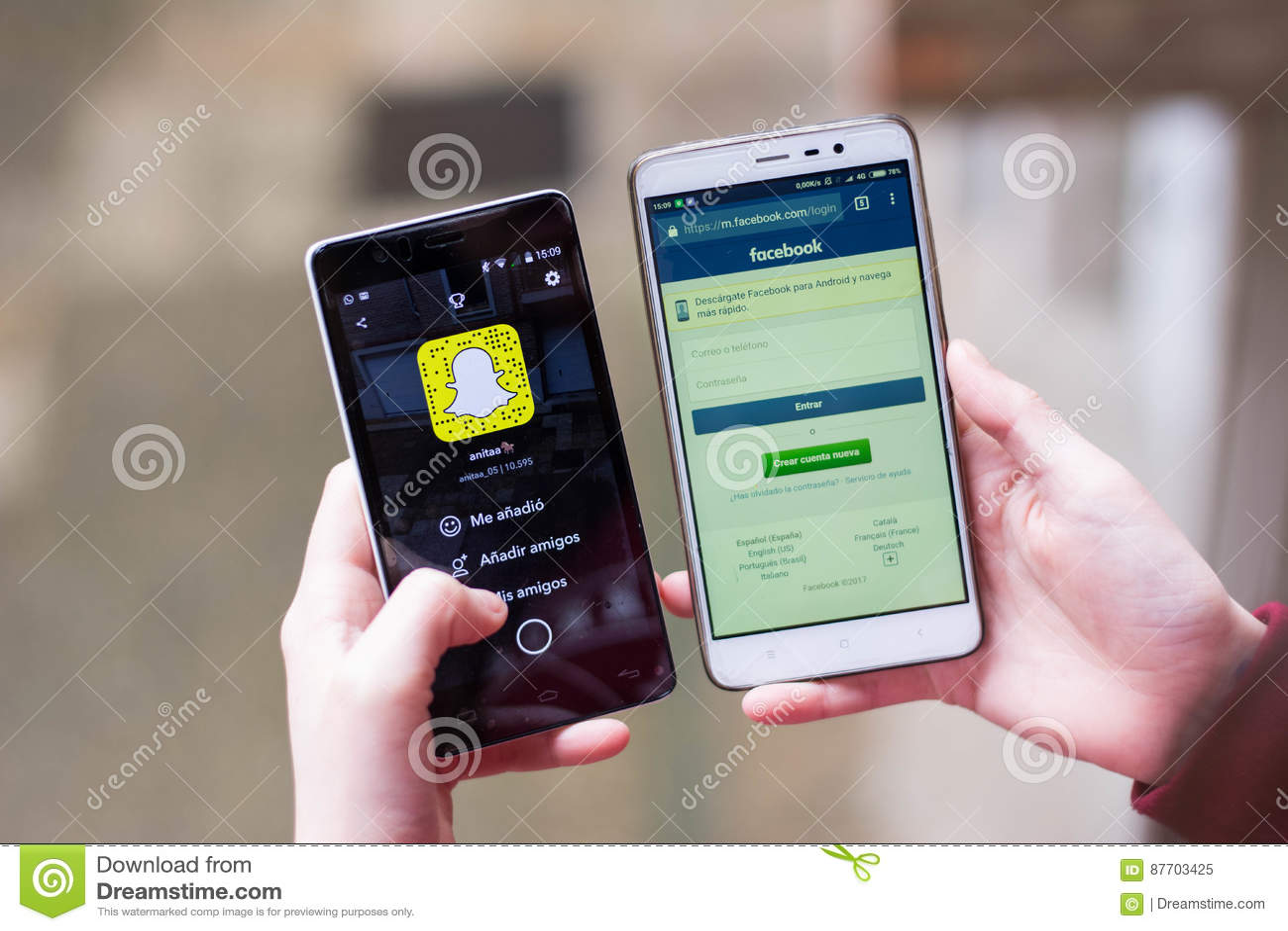 Snapchat d agaisnt de Facebook, snapchat sur le marché boursier