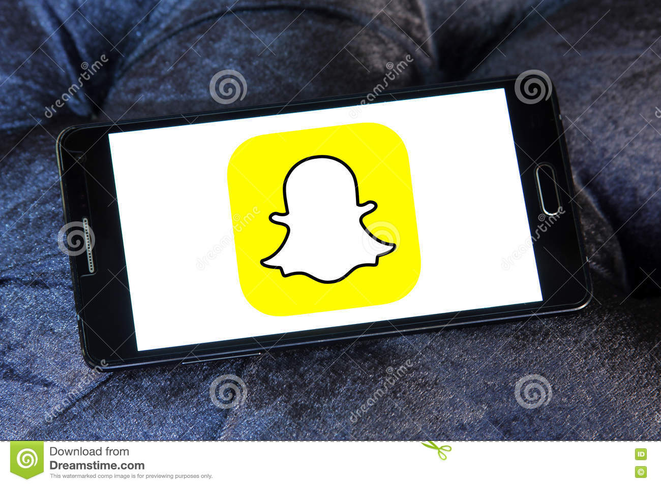 Snapchat logo editorial photo  Image of dating, electronics