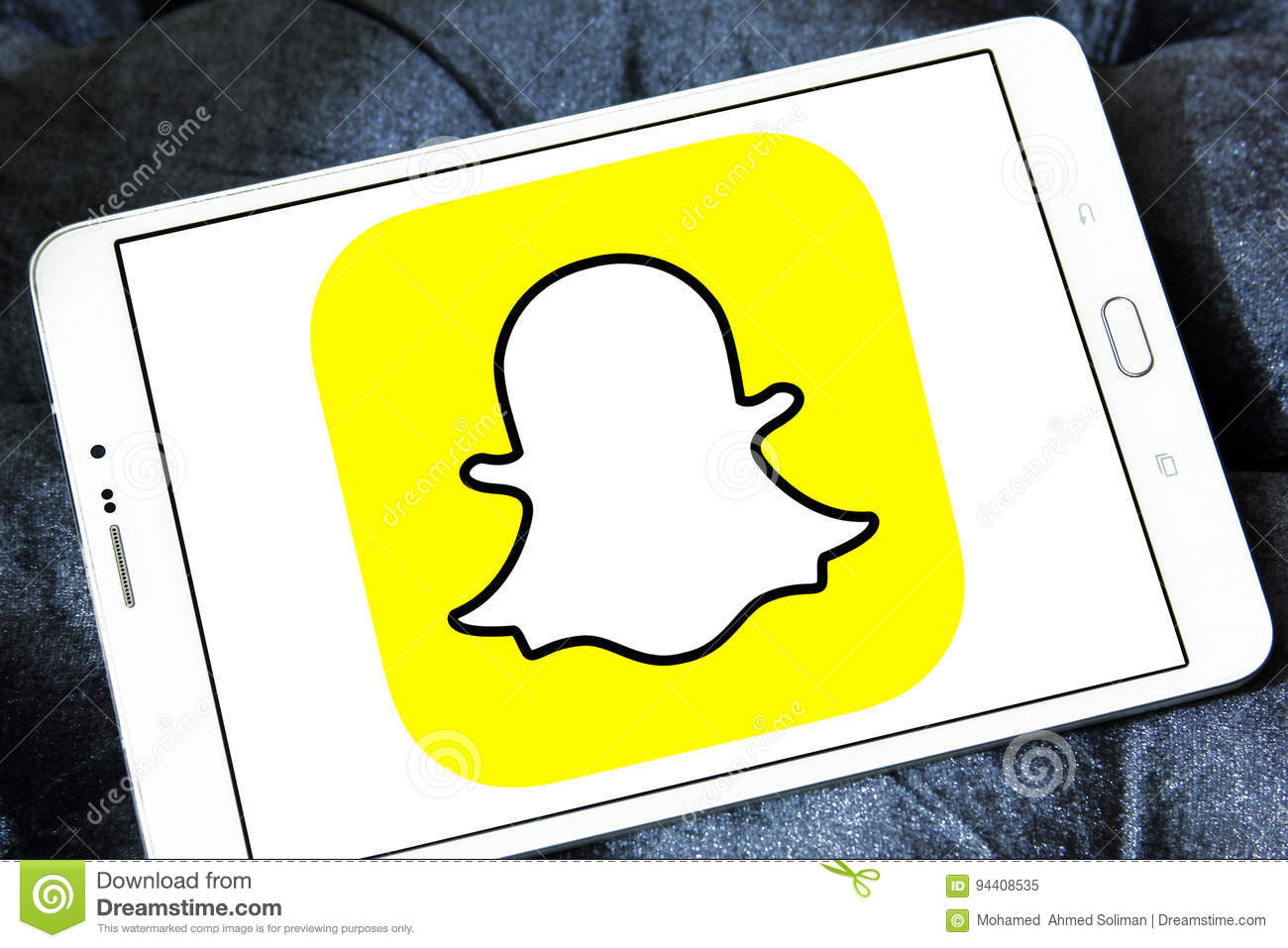 Snapchat logo editorial image  Image of applications - 94408535